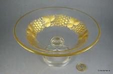 Vintage MOSER Intaglio Cut & Gilded Glass Fruit Bowl - Bohemian / Czech C1920s