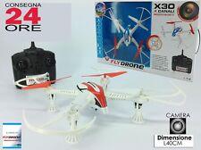 RC QUADRICOTTERO DRONE 2.4 Ghz X30 con TELECAMERA + luci led ISRUZIONI ITALIANO