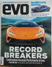 Evo The Thrill of Driving Aug 2017 Record Breakers Lamborghini FREE SHIPPING sb