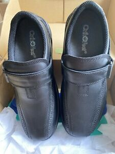 Orthofeet Black Hook And Loop Walking Shoes Comfort Sz 11 Lincoln Center 2E  W