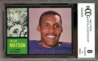 1962 topps #79 OLLIE MATSON SP los angeles rams (sharp & centered) BGS BCCG 8