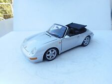 1/18  UT Porsche 911 DIECAST  Cabriolet (993) (silber-metallic) 1:18  NO BOX