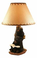 Mother Bear Reading Book to Her Cub Table Lamp Statue with Shade 23 Inch High