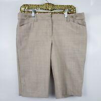 Express Design Studio EDITOR Beige Capri Career Dress Pants Shorts Sz 10