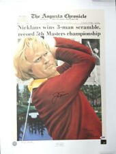 Jack Nicklaus Autographed Signed 20x27 Lithograph 1975 Masters PSA/DNA S08742