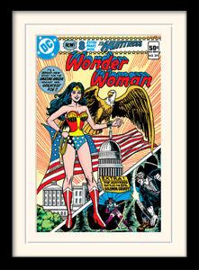 Wonder Woman Eagle Framed & Mounted Print