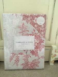 Gorgeous New⭐️CABBAGES & ROSES LONDON⭐️CHARLOTTE DOUBLE DUVET ~ PILLOW CASES