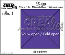 Crealies X-tra Fold Open Die - Square 4 Parts CLXTRA01 / 58x58 mm