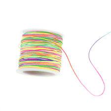 45m / lot 0.8mm Regenbogen Quaste Schnur DIY Armband Halskette Linie Wachsfaden