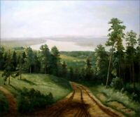 Quality Hand Painted Oil Painting Path to the River 20x24in
