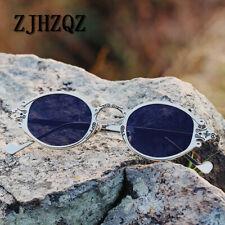 Vintage Retro Steampunk Polarized Sunglasses Gothic Oval Frame Carved Sunglasses