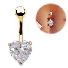 Navel Belly Ring Rhinestone Button Bar Heart Star Fashion Body Piercing Jewelry
