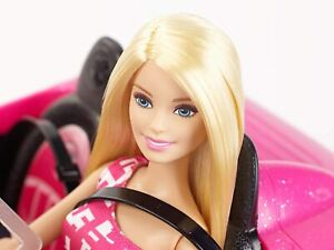 Barbie Doll Barbie Convertible Pink Car And Barbie Doll Set New 3+ Years, Gifts