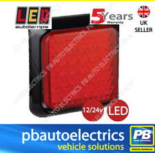 LED Autolamps Rear Red LED Light Lamp 100mm Square Stop and Tail Functions 80RME