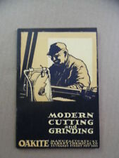 1923 Modern Cutting Grinding Oakite Compounds Catalog Brochure Machine Tools VG+