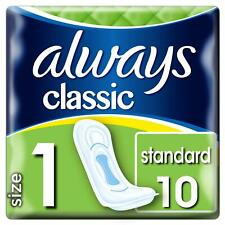Always Maxi Classic Pads Standard Normal Sanitary Towels - Size 1 - 10 Pack