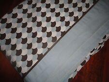 KOHL'S APT 9 BLUE & BROWN CALICO FULL FLAT SHEET 100% COTTON