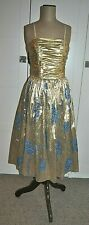 Vintage 80's KERENA Design Metallic Party/Cocktail Dress