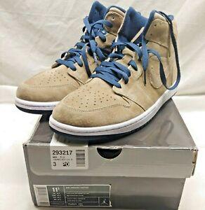 Air Jordan 1 Khaki / Hyper Verde/Midnight Navy Size 11.5 NEVER WORN 136065 231