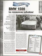 FICHE DESCRIPTIVE - TECHNIQUE - LA BMW 1500 DE 1962