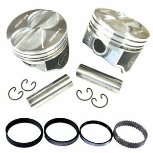 SBF Ford 289 302 Flat Top Speed Pro Pistons w/ Moly Rings +30 Over Small Block