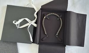 Chanel Black Champagne Gold Chain CC Leather Headband 21S AB6143 New with Box