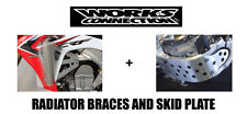 NEW WORKS CONNECTION SKID PLATE & RADIATOR GUARDS BRACES 05-7 HONDA CR125R CR125