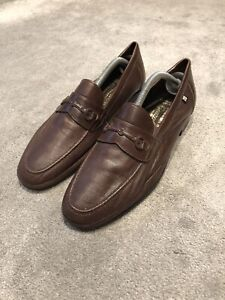 Kiowani Gonzalo Mens Brown Leather Loafers. Eu43