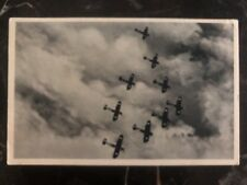 1937 Prague Czechoslovakia RPPC Postcard cover military Airplanes