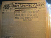 Numismatic Coins History Newspaper 1912 STRAY COINS & THIER STORIES FOREIGN CEMT