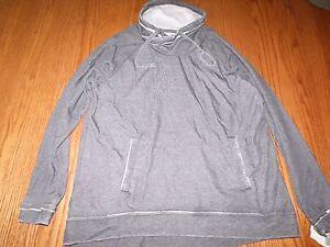 New Womens Green Tea Mineral Wash Long Sleeve Cowl Neck Sweatshirt Gray Small S