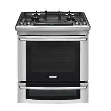 "Electrolux Stainless Steel 30"" Dual Fuel Slide in Range Gas Top / Electric Oven"