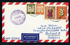 96755) Belgien SABENA FF Brüssel - New York 8.1.71, Karte ab BRD 7141..?
