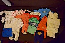 HUGE lot Carter's Pajamas Gerber NB Newborn Boy clothes Halo Sleepsack Swaddle