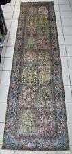 Teppich Läufer Kaschmir GHOM Naturseide aus Indien 100% Seide 359x93cm NEU!!!