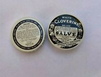 Two Sample Cloverine Salve Tins - New Old Stock