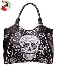 Banned Black Skull Pentagram Bag Alternative Occult Handbag Goth