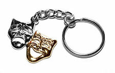 Comedy/Tragedy Theatre Masks Keychain, Theatre Amateur Dramatics gift ideas