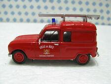 RENAULT  4  Sapeurs Pompiers Ville de Nice 1965           - 1/43  U.H.