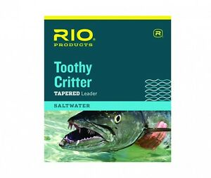 RIO TOOTHY CRITTER TAPERED LEADER 7.5FT 45 LB 20.5KG