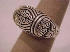 Vintage Antique Estate~925 Sterling Silver, Dome Style Filigree Ring Size 5
