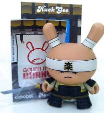 """DUNNY 3"""" GOLD LIFE SERIES HUCK GEE 1/16 VERY SERIOUS SAMURAI BLACK 2011 KIDROBOT"""