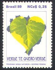 BRASILE 1989 piante/NATURA/ambiente/Cuore 1v (n29482)
