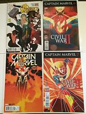 Captain Marvel 5, 6, 7 Civil War II Near Mint Condition Or Better