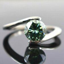 1.8 Ct Elegant Blue Diamond Solitaire Ring,Great Shine & Lustre!
