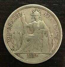 INDOCHINE - PIASTRE DE COMMERCE 1889 A PARIS - ARGENT