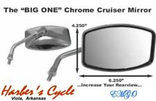 Honda CB, Nighthawk & Naked Goldwing - Chrome Big Mirrors Left Right Pair