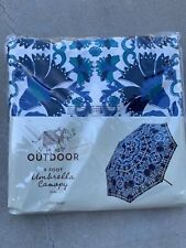New listing World Market Cost Plus 9 Ft Printed Boho Umbrella Canopy Cover Nwt.