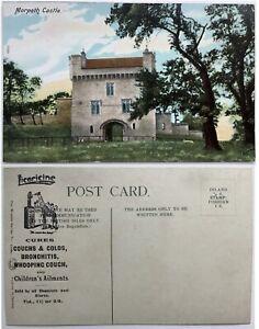 Vintage Postcard, Morpeth, The Castle, Adverising Overprint, Wrench