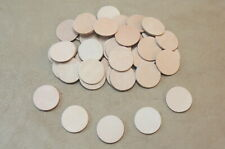 """25 Vegetable Tanned Cowhide Tooling Leather 2"""" Circles for Laser Engrave Crafts"""